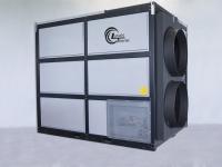 Zwei Warmluftöffnungen ermöglichen den Wärmetransport von 750 kW.