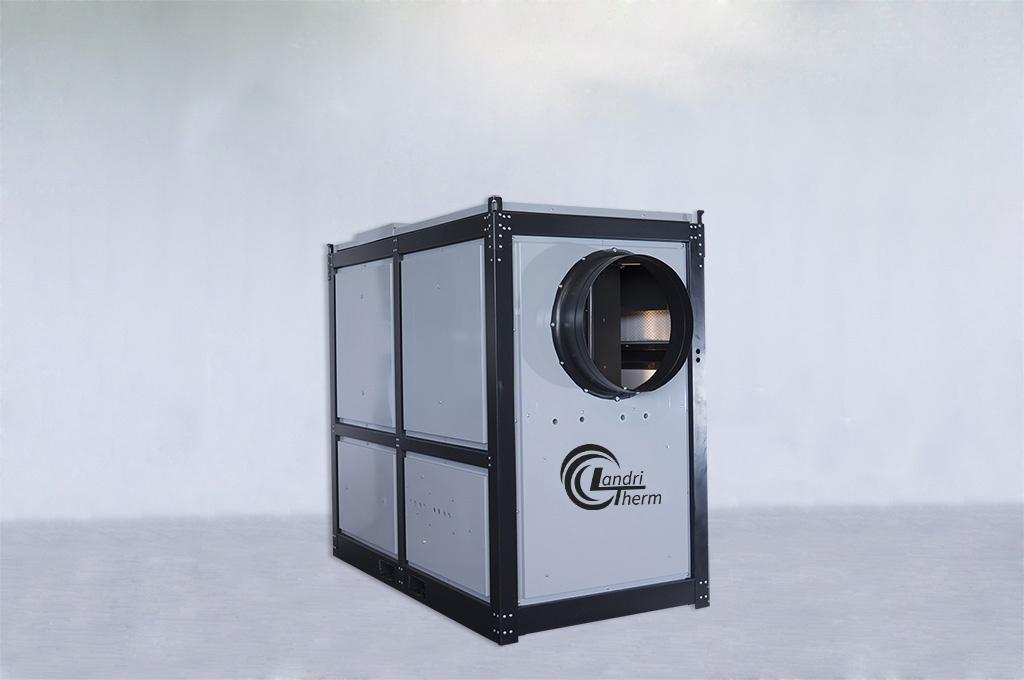 pelletswarmluftofen trocknen und heizen mit biomasse. Black Bedroom Furniture Sets. Home Design Ideas