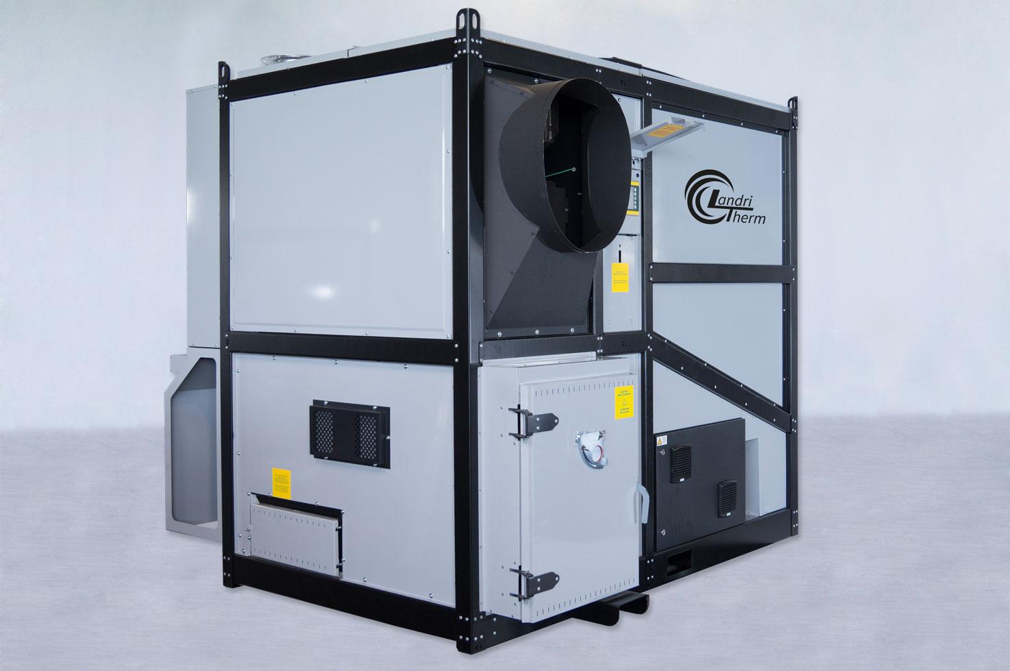 hackgutwarmluftofen trocknen und heizen mit biomasse. Black Bedroom Furniture Sets. Home Design Ideas